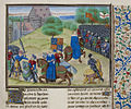 Death of Wat Tyler - Froissart, Chroniques de France et d'Angleterre, Book II (c.1475-1483), f.175 - BL Royal MS 18 E I.jpg