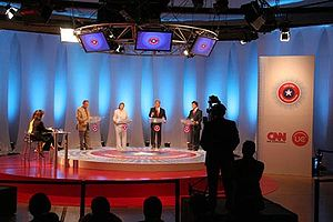 CNN en Español - Chilean TV 2005 presidential debate on CNN en Español (Santiago, Chile).
