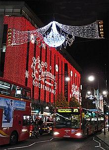 iluminacin navidea en oxford street