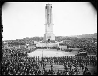 Gummer and Ford - Image: Dedication of National War Memorial Carillon, Wellington