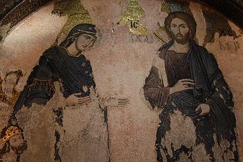 """Português: Mosaico Deesis (""""Súplica""""..."""