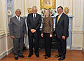 Defense.gov News Photo 120430-D-NI589-0041 - Secretary of Defense Leon E. Panetta right Secretary of State Hillary R. Clinton Philippines Secretary of Foreign Affairs Albert del Rosario and.jpg