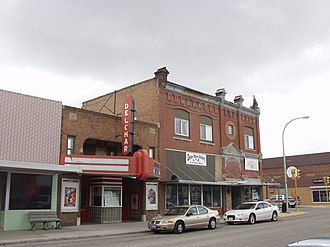 National Register of Historic Places listings in Traill County, North Dakota - Image: Delchar Theater and First National Bank