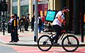 Deliveroo Cyclist on a Bike in Manchester.jpg