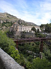 Designed by Eiffel a Bridge in Cuenca Spain same person who designed the Eiffel Tower in Paris.jpg