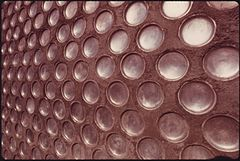 Detail of a Wall in an Experimental Home Built of Aluminum Beer and Soft Drink Cans near Taos, New Mexico. (3815043035).jpg