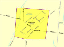 Detailed map of Wilkesville