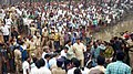 Dharmendra Pradhan alongwith the Chief Minister of Andhra Pradesh, Shri N. Chandrababu Naidu at the pipeline accident site, at Tatipaka, Andhra Pradesh on June 27, 2014.jpg