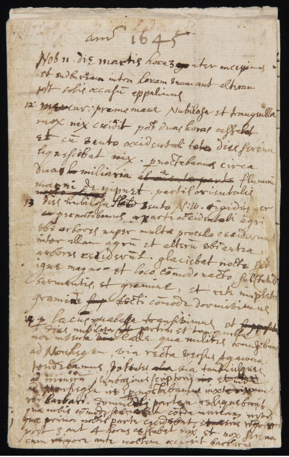 Diary of journey from Boston to Saybook by John Winthrop the Younger