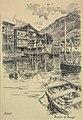 Dibujo original, Puerto de Pasajes, tinta s. papel, por Mariano Pedrero.jpg
