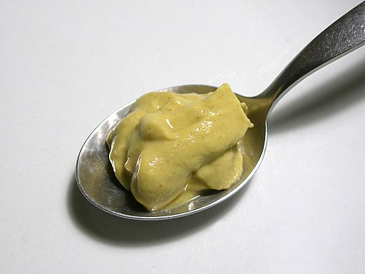 Dijon mustard on a spoon - 20051218
