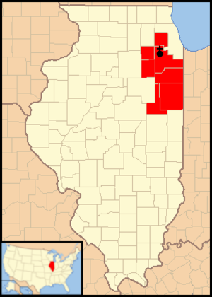 Roman Catholic Diocese of Joliet in Illinois - Image: Diocese of Joliet in Illinois map 1