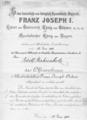 Diploma van de Frans Jozef-Orde uit 1912.png