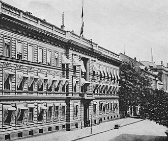 Disconto-Gesellschaft - Headquarters of the Disconto-Gesellschaft, Behrenstraße 43/44 (old facade)