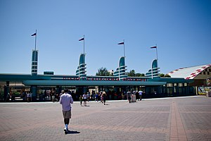 Buena Vista Street - The remodeled entrance plaza.