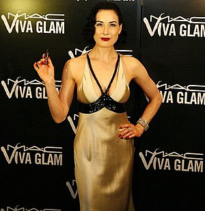 Photo of author/burlesque artist Dita Von Teese.