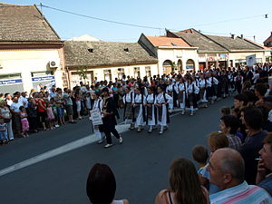 Đakovački vezovi - Procession of folklore group