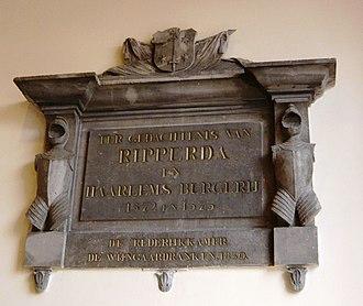 Wigbolt Ripperda - Image: Doelen memorial plaque for Wigbolt Ripperda