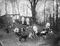 Dogs with their keepers at the Physiology Department Wellcome L0022519.jpg