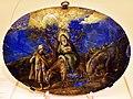 Domenichino (cerchia), riposo durante la fuga in egitto, olio su lapislazzuli, roma 1620 ca.jpg