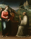 Domenico Puligo - The Vision of Saint Bernard - Walters 37652.jpg
