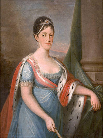 Carlota Joaquina of Spain - Portrait by Domingos Sequeira, c. 1802–06