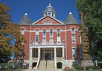Doniphan County, Kansas - Image: Doniphan County Courthouse Troy Kansas