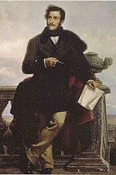 Gaetano Donizetti(posthumous portrait by Ponziano Loverini) (Source: Wikimedia)
