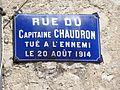 Doulaincourt, rue du Capitain Chaudron, tué à l'ennemi le 20 août 1914.jpg