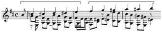 Chromatic hexachord - Image: Dowland fantasia chromatic hexachord