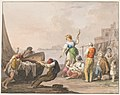 Drawing, Water color; On the shore in Chiaja, 1828 (CH 18329405).jpg