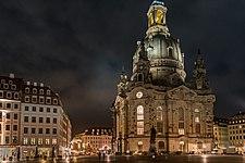 Dresden Frauenkirche Nachtaufnahme