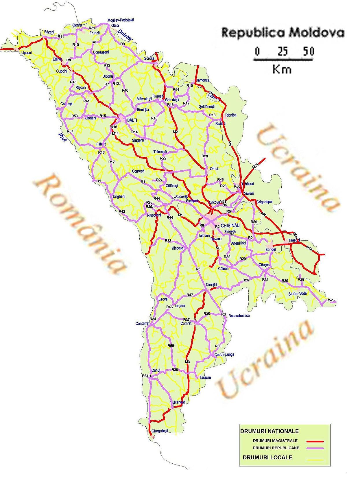 Transportul în Republica Moldova - Wikipedia