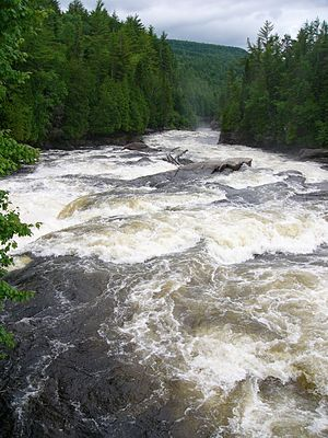 Dumoine River - View down Grand Chute