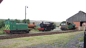 Scottish Industrial Railway Centre - Locomotives outside the old NCB Waterside Shed
