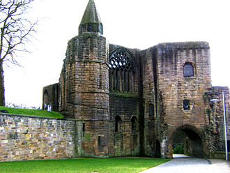 Dunfermline Palace -  The gatehouse and pend which link Dunfermline palace and abbey.