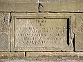 Dunipace Bridge - date stone - geograph.org.uk - 1747014.jpg