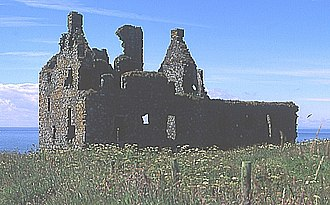 Rhins of Galloway - The remains of Dunskey Castle near Portpatrick