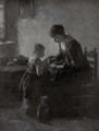 Dutch Painting in the 19th Century - Neuhuys - The First Lesson.png