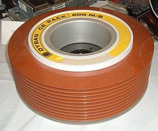 Disk pack Obsolete form of removable media