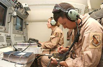Northrop Grumman E-8 Joint STARS - Image: E 8 crewmembers