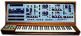 Tangerine Dream - The E-mu Audity synthesizer, commissioned by Peter Baumann in 1979.