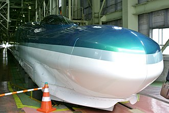 Fastech 360 - The Fastech 360Z set S10 at Sendai Shinkansen Depot in July 2008