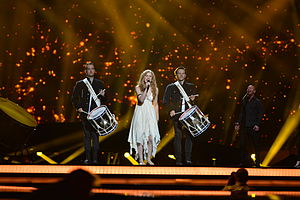 Denmark in the Eurovision Song Contest 2013 - Emmelie de Forest at the first semi-final dress rehearsal in Malmö.