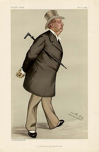 """Edward Leeson, 6th Earl of Milltown - """"a persevering politician"""" The Earl of Milltown as caricatured by Spy (Leslie Ward) in Vanity Fair, November 1883"""