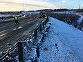 Earthquake repair on Glenn Highway near Parks Highway interchange.jpg