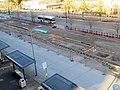 East Bay BRT construction at San Leandro station, January 2020.JPG