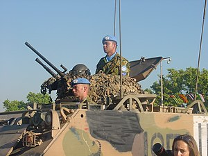Australian peacekeepers in East Timor. M113 ar...