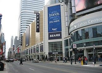 Yonge Street - The Toronto Eaton Centre on Yonge Street south of Dundas Street