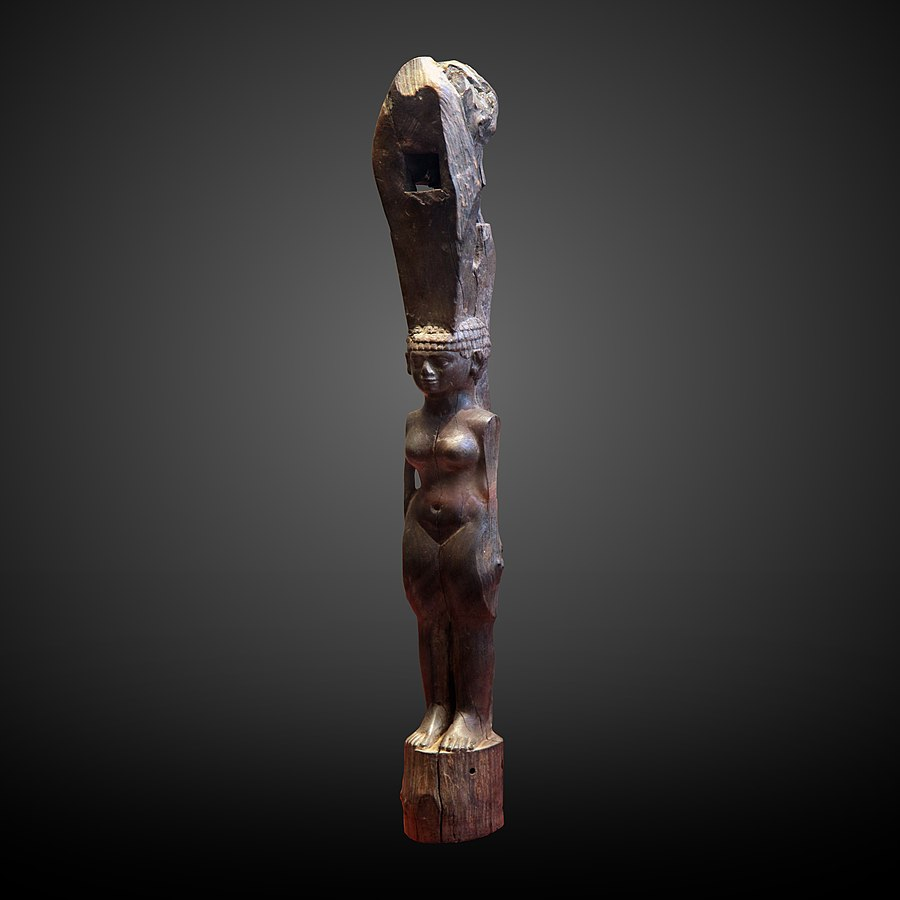 Ebony furniture leg as naked woman-E 7652
